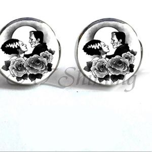 Jewelry - Frankenstein and the bride Stud Earrings new
